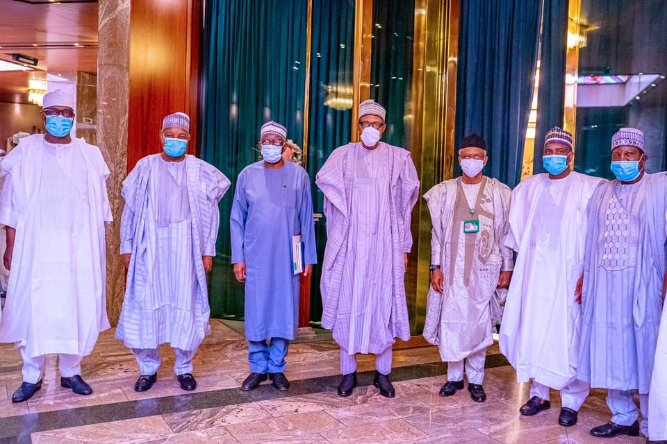 Buhari meets Northern governors behind 'closed door' in Abuja
