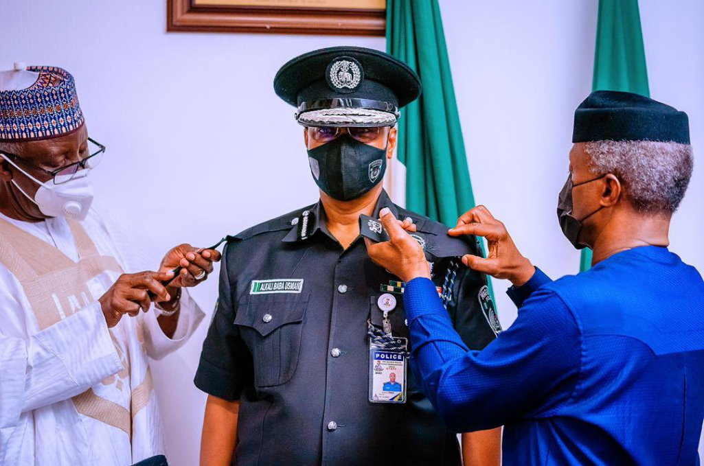 Breaking: Osinbajo Decorates Usman Alkali Baba as Inspector-General of Police