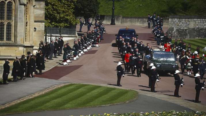 Prince Philip laid to rest in a royal funeral at Windsor Castle Celebrating Service to Queen, Britain, Commonwealth