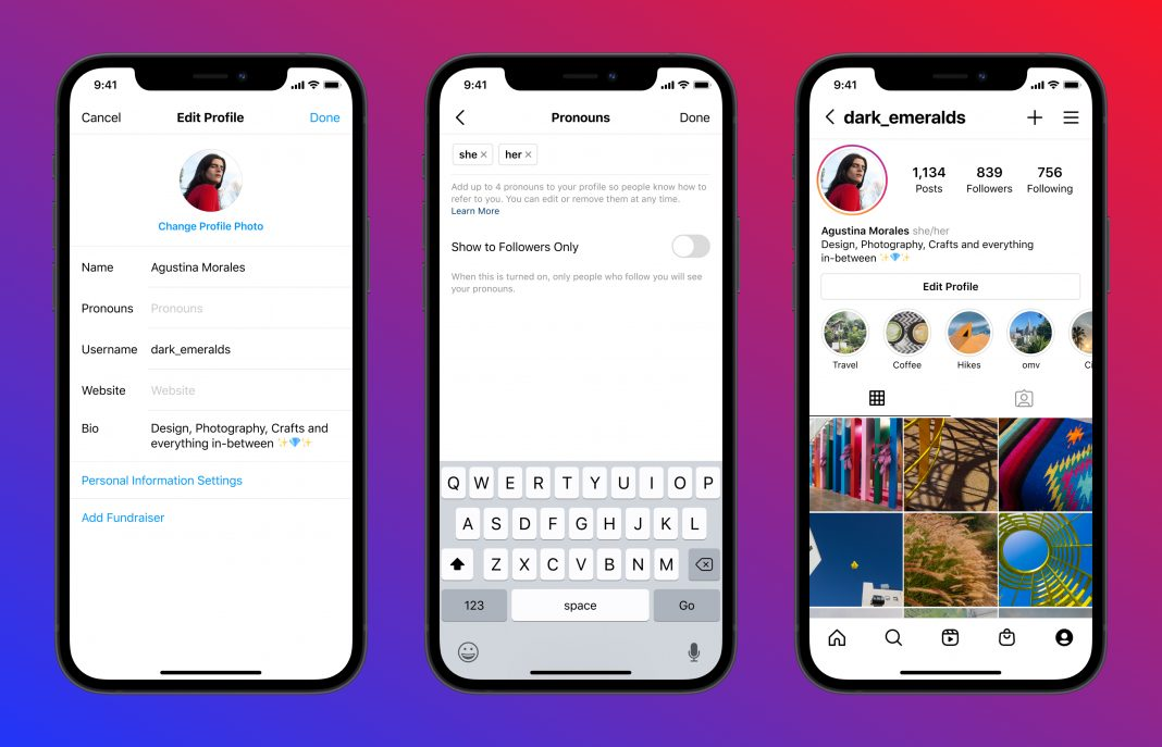 Instagram gets a new feature, that let users add preferred pronouns in profiles, as alternate gender identities